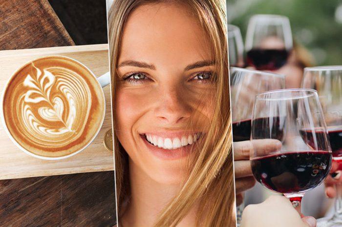 Алкоголь и кофе портит зубы