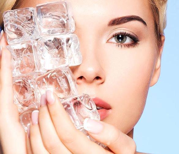 Как правильно протирать лицо льдом