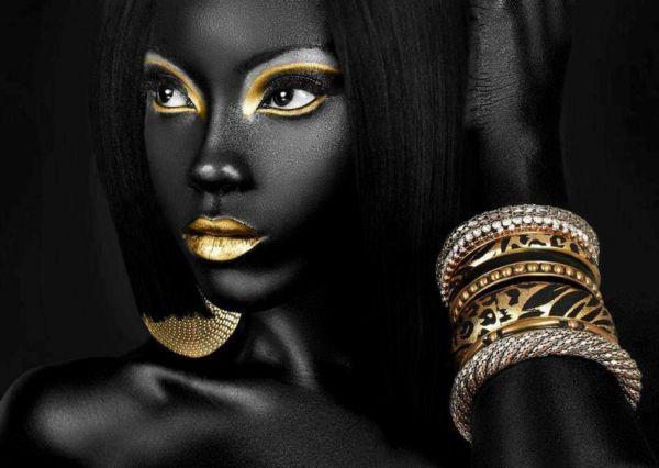 Новогодний макияж в золоте