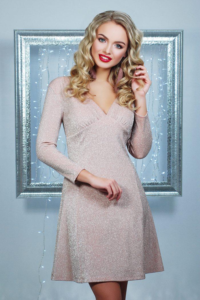 В чем встречать новый год - новогоднее розовое платье для Близнецов