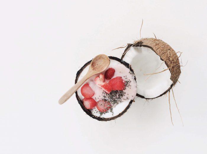 чиа пудинг с кокосовым молоком