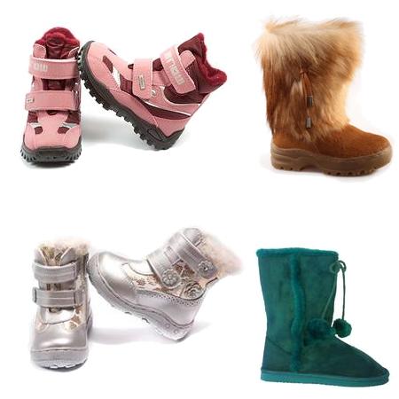 Зимняя коллекция детской обуви для девочек