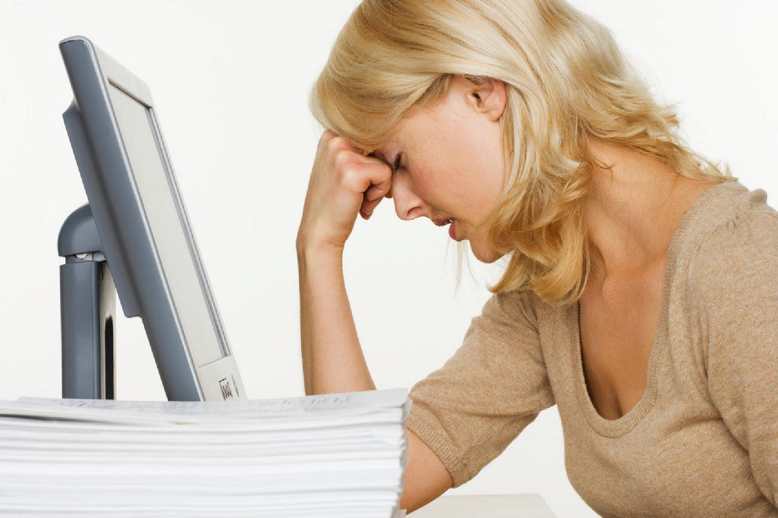 Новости провоцируют стресс у женщин